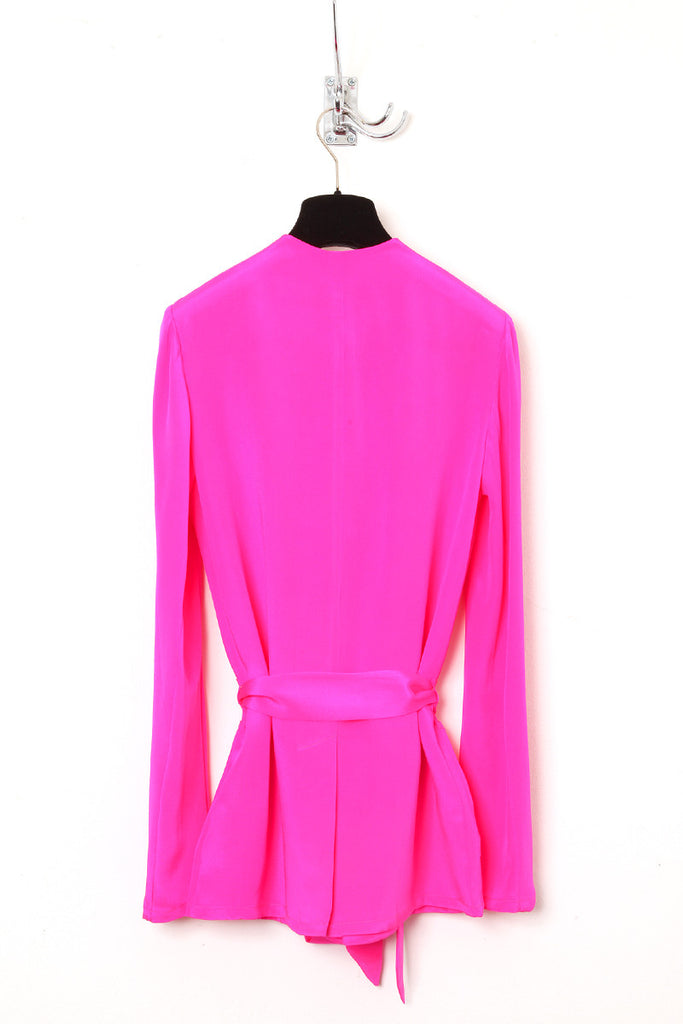 UNCONDITIONAL Hot Pink boxy belted jacket.