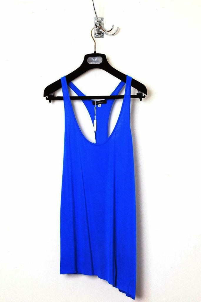 UNCONDITIONAL Electric blue racer back vest with twisted seams.