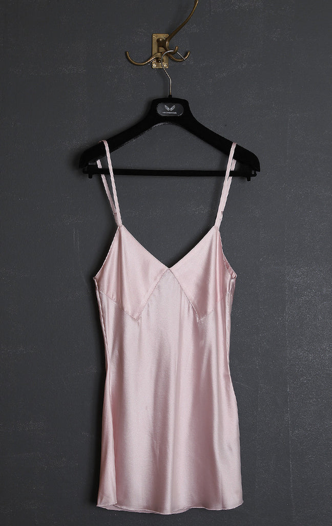UNCONDITIONAL Signature blush | nude silk satin diamond camisole.