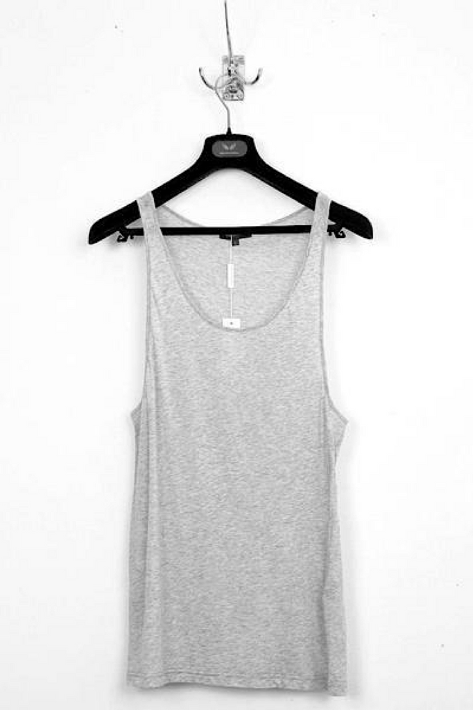 UNCONDITIONAL SS20 Flannel Grey Fine Cotton Jersey Vest