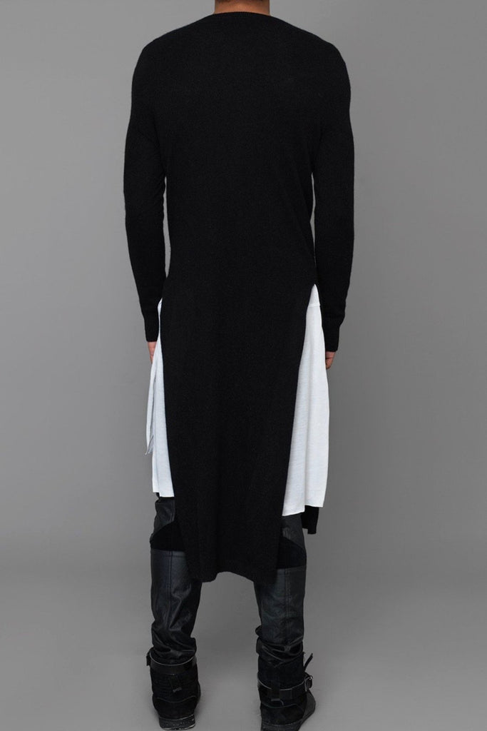 UNCONDITIONAL Womens Signature Black Italian cashmere-wool long high V-neck jumper