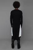 UNCONDITIONAL Signature Black Italian Merino long high V-neck jumper