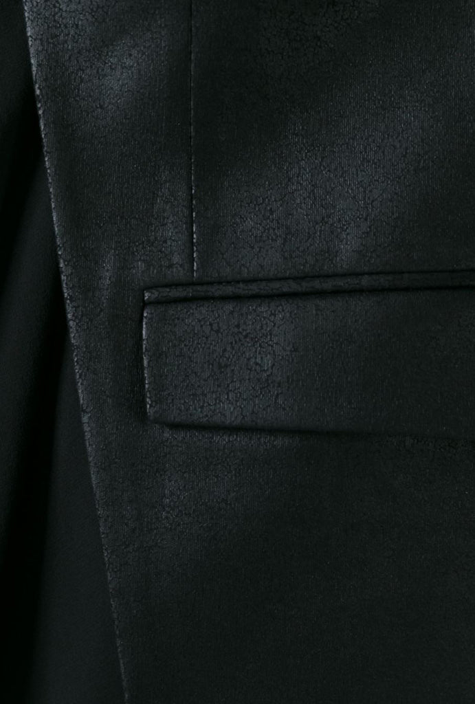 UNCONDITIONAL AW20 BLACK LEATHER LOOK, MATT FOIL CUTAWAY JACKET