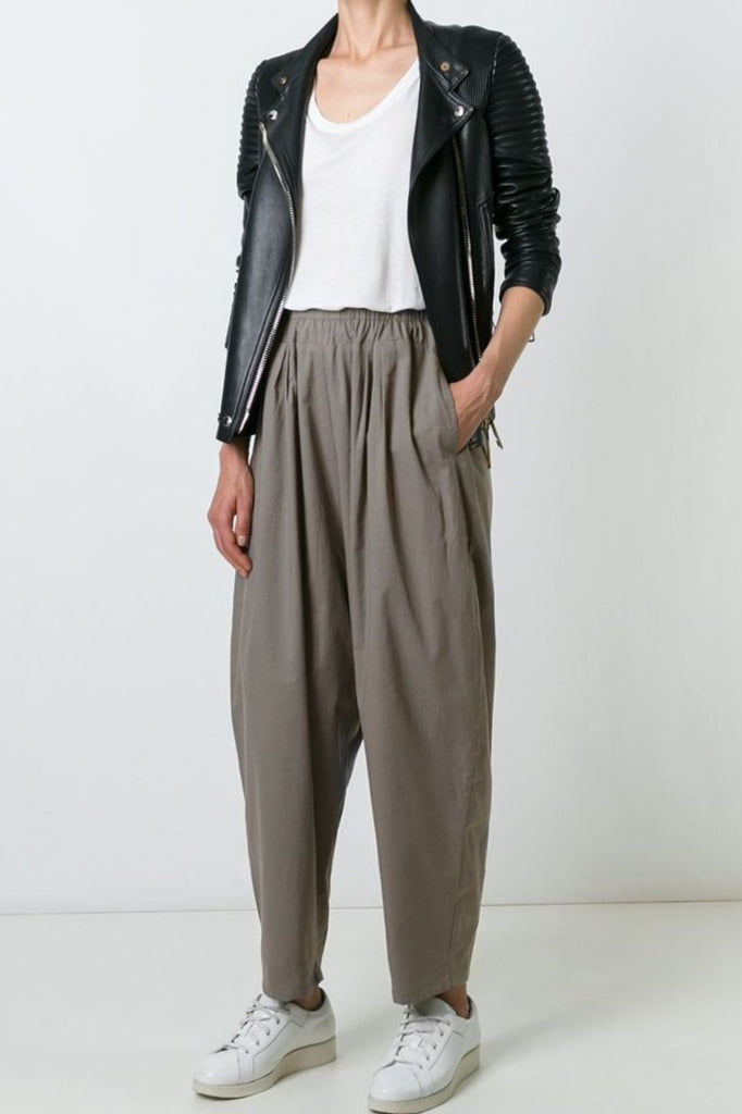 UNCONDITIONAL Taupe cotton voile Speilberg cocoon trousers