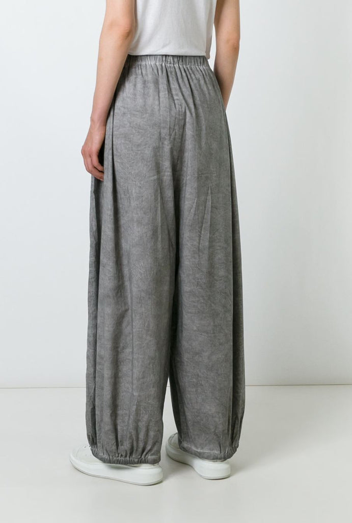 UNCONDITIONAL Sand cold dye double layer cotton voile cocoon trousers