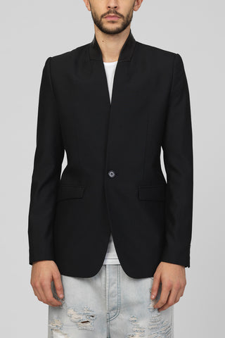 UNCONDITIONAL AW17 Black tailored zip up double breasted tuxedo jacket.