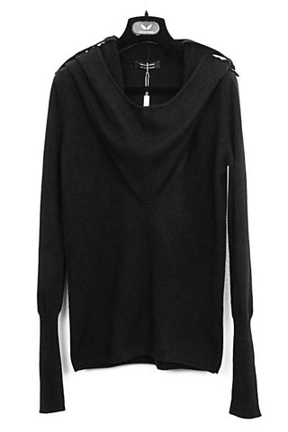 UNCONDITIONAL AW19 BLACK | OFF WHITE CASHMERE POCKET HOODIE