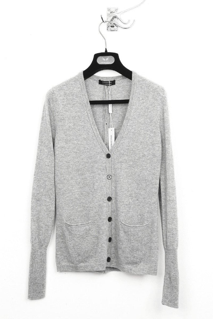 UNCONDITIONAL flannel cashmere cardigan with back buttons.