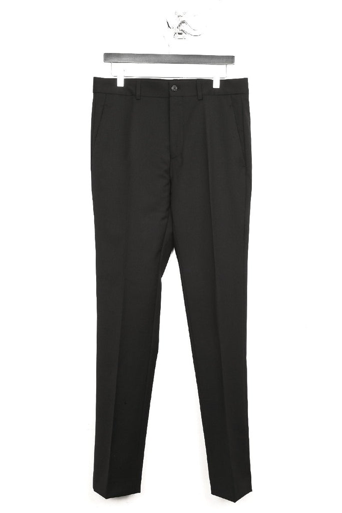 UNCONDITIONAL Black wool cigarette tailored trousers.