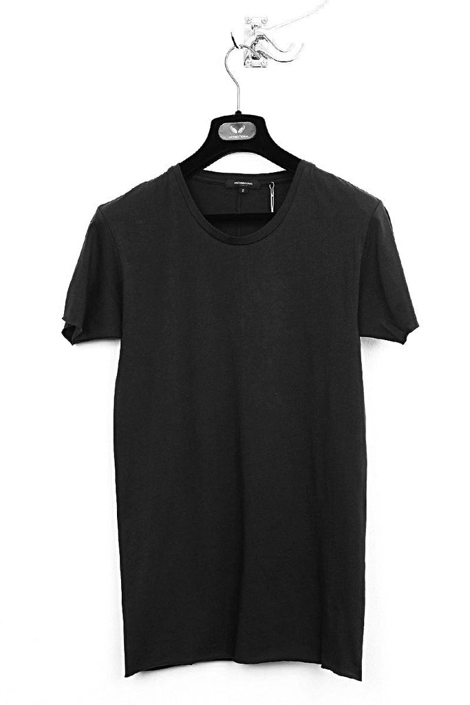 UNCONDITIONAL Black slim fit tee with centre back seam.