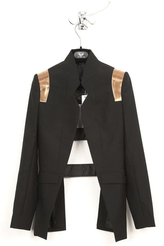 UNCONDITIONAL SS19 Grey silk velvet dip dyed 'Boyfriends Blazer'
