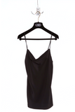 UNCONDITIONAL AW19 signature BLACK SILK drape front camisole