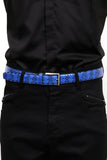 UNCONDITIONAL mens blue authentic python belt.