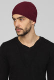 UNCONDITIONAL AW19 Burgundy boiled merino wool knit skull cap