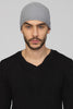 UNCONDITIONAL Silver grey boiled merino wool skull cap