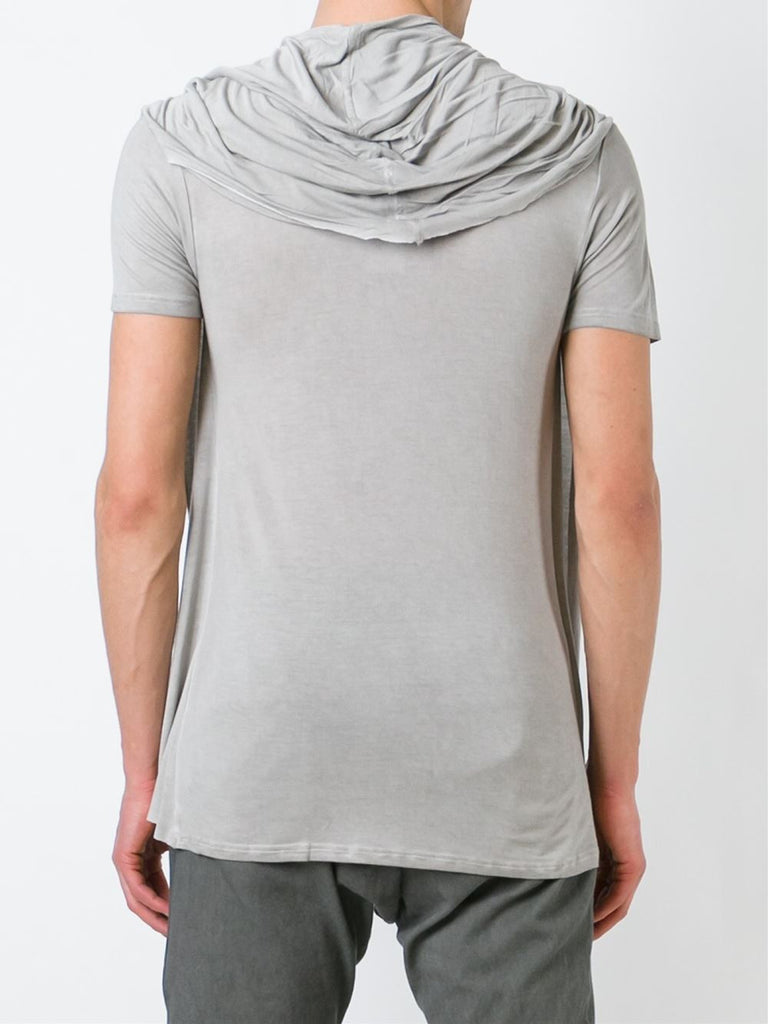 UNCONDITIONAL Sand cold dye hooded cape drape waistcoat T-shirt.