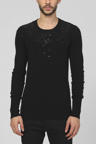 UNCONDITIONAL black v neck loose knit jumper.