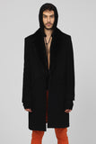 UNCONDITIONAL AW19 MINK COLLAR CASHMERE BLEND COAT