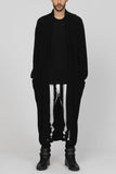 UNCONDITIONAL AW17 black full length mens cashmere
