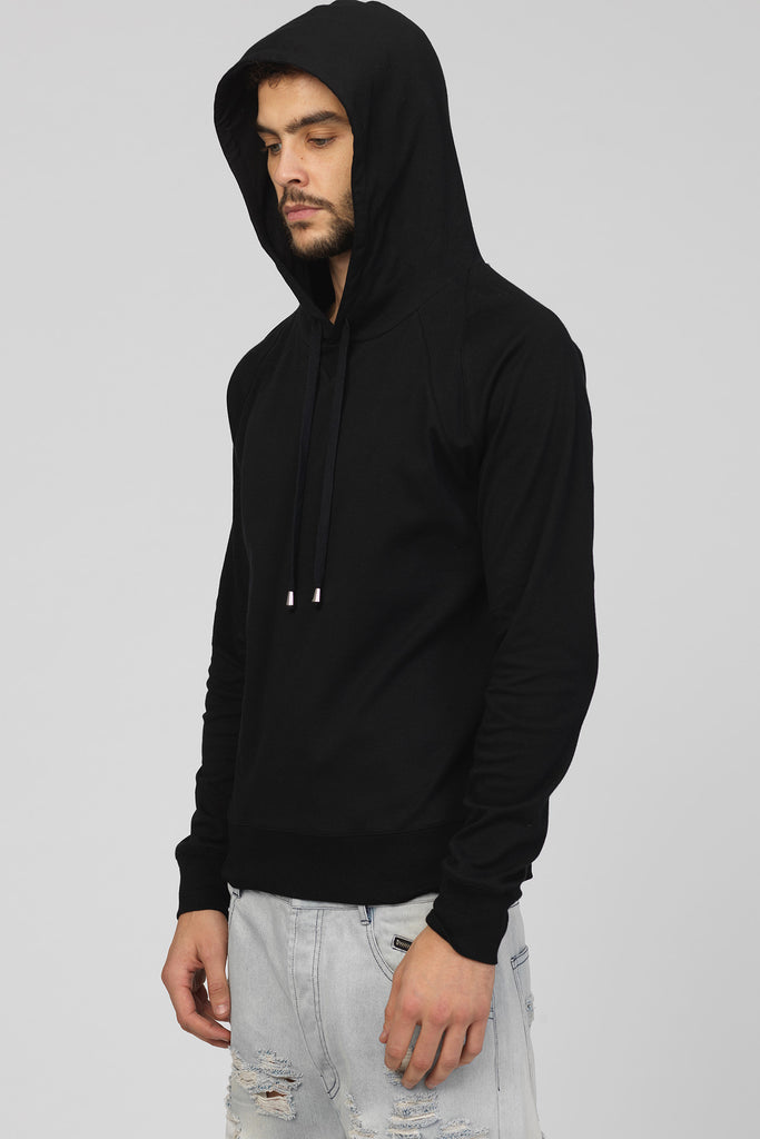 UNCONDITIONAL SS17 Black Sunday Morning cotton sweat slim fit hoodie.