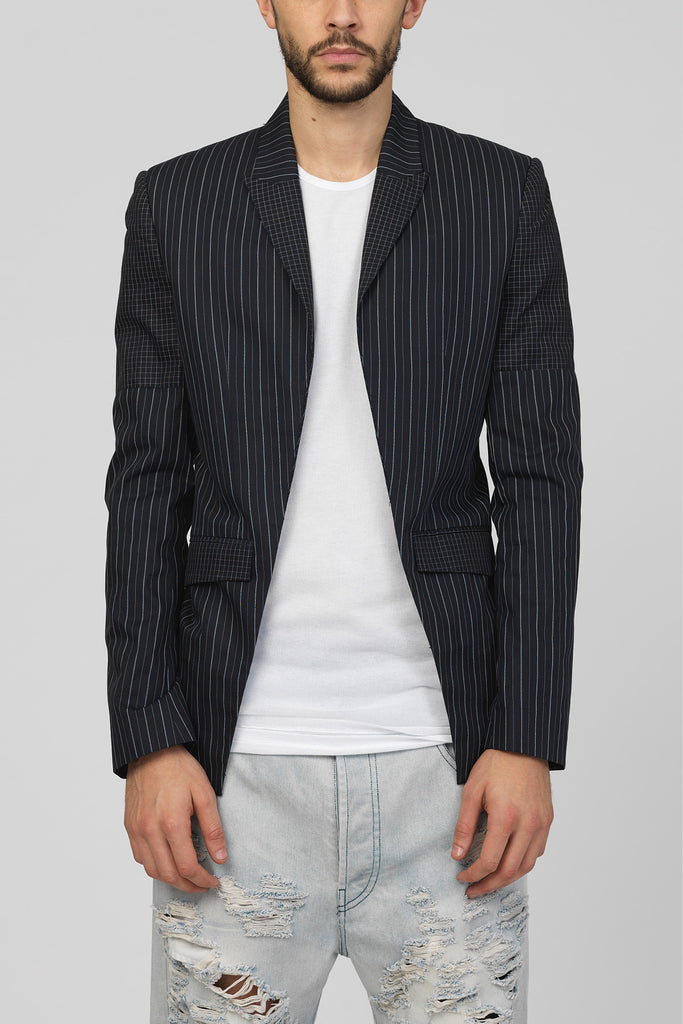 UNCONDITIONAL Lightest Black cotton signature cutaway jacket.