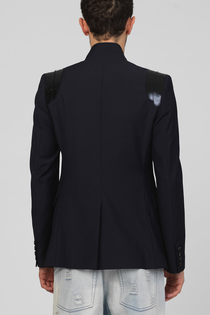 UNCONDITIONAL Midnight blue cutaway tailored jacket