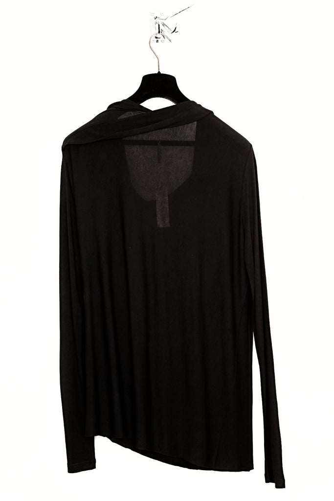 UNCONDITIONAL AW18 Black long sleeved extreme drape top.