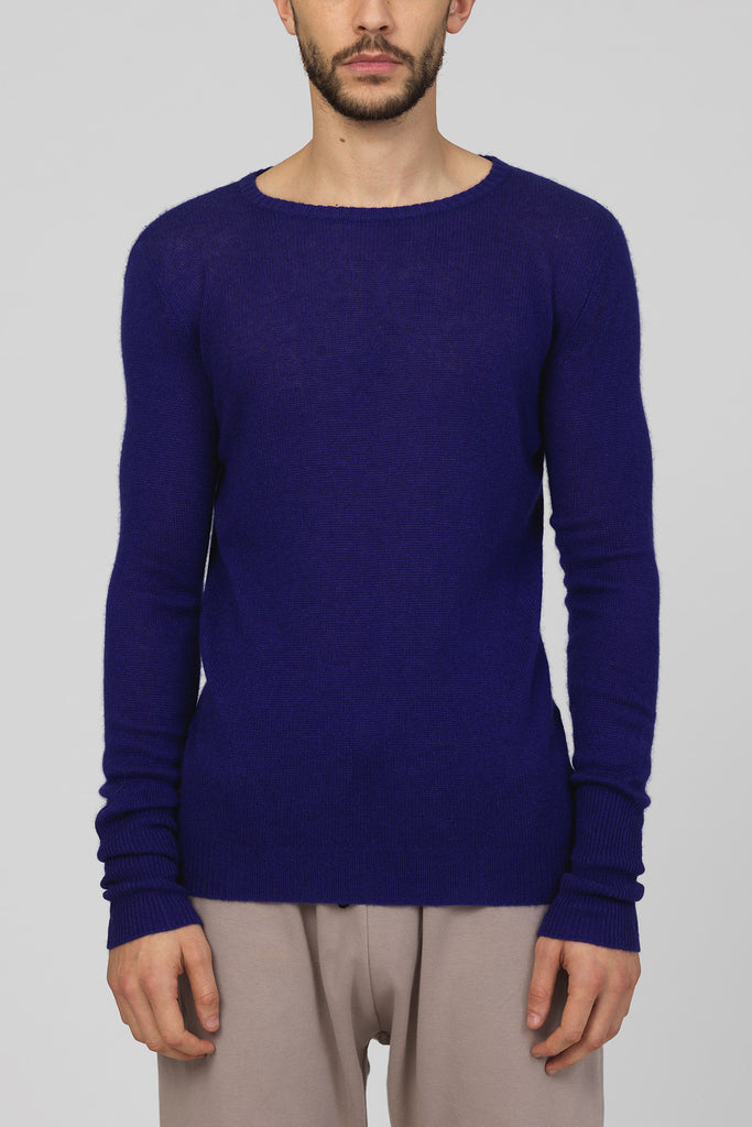 "UNCONDITIONAL ""Royal""  Blue loose knit round neck jumper"