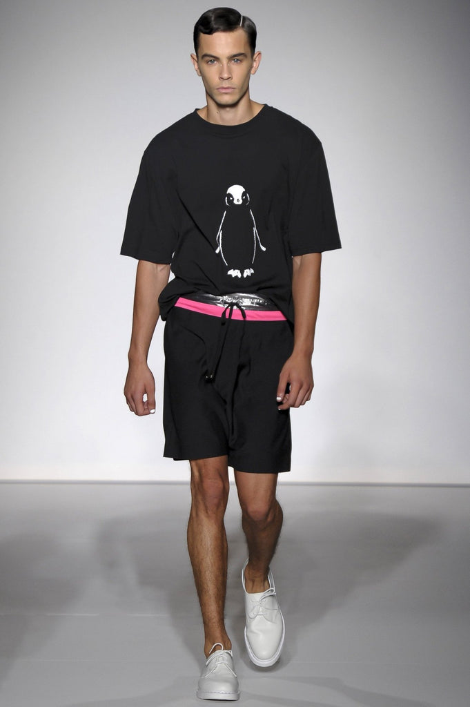 UNCONDITIONAL oversized T-shirt printed with the now endangered African penguin