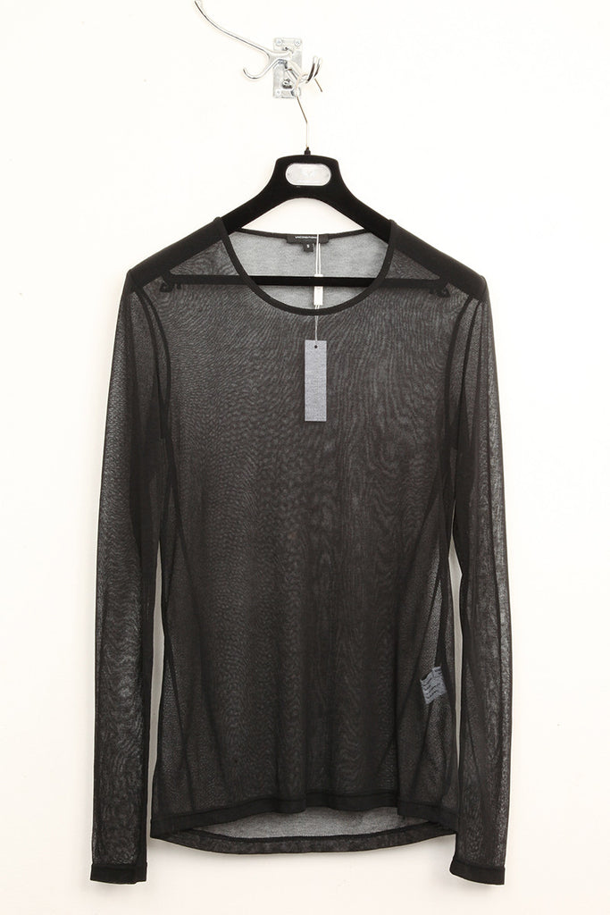 UNCONDITIONAL SS16 black mesh long sleeved t-shirt.