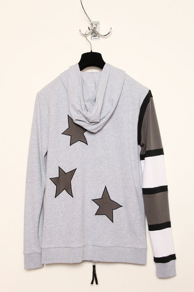UNCONDITIONAL Americana Monotone double zip heavy cotton hoodie.