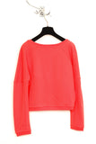 UNCONDITIONAL coral 3/4 sleeved sweat shirting jumper.