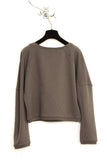 UNCONDITIONAL military grey 3/4 sleeves sweat shirting jumper.