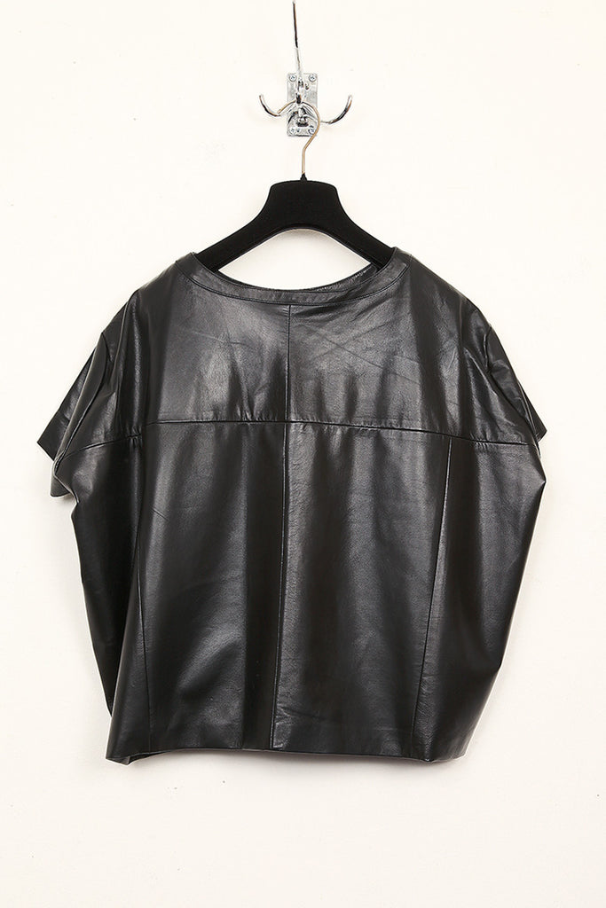 UNCONDITIONAL black leather short sleeved t-shirt