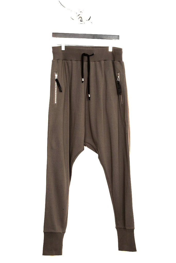 UNCONDITIONAL dirt drop crotch full length jersey trouser.