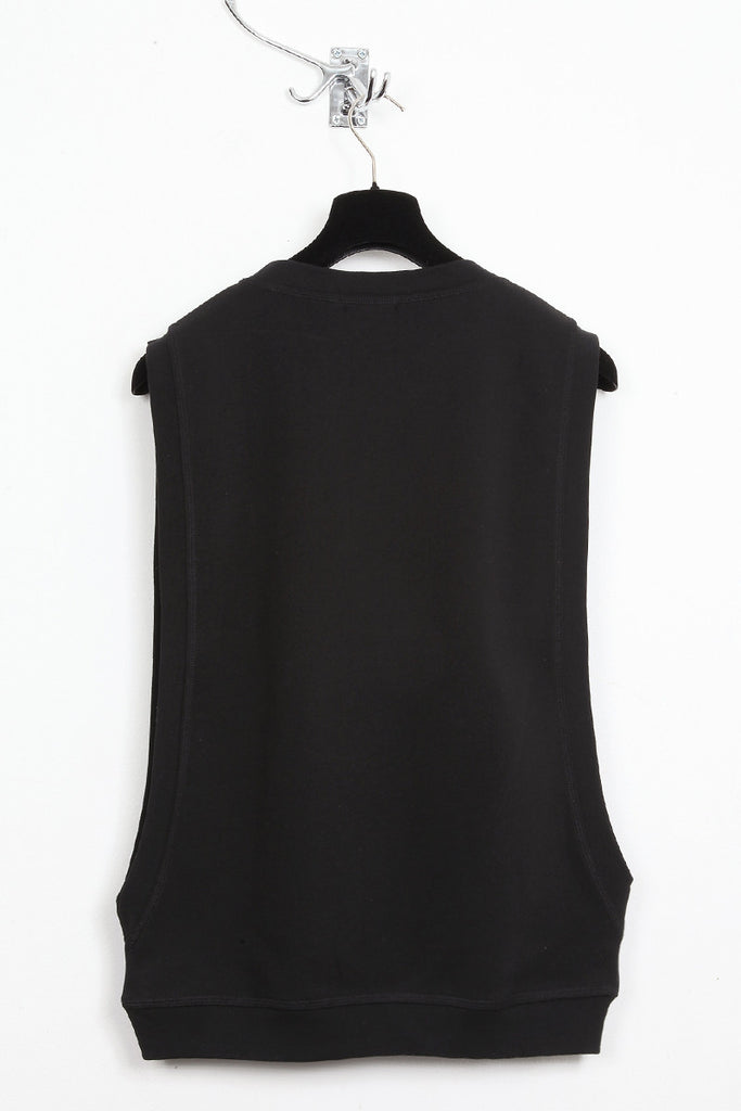 UNCONDITIONAL black open side crew neck sweat shirting jumper.