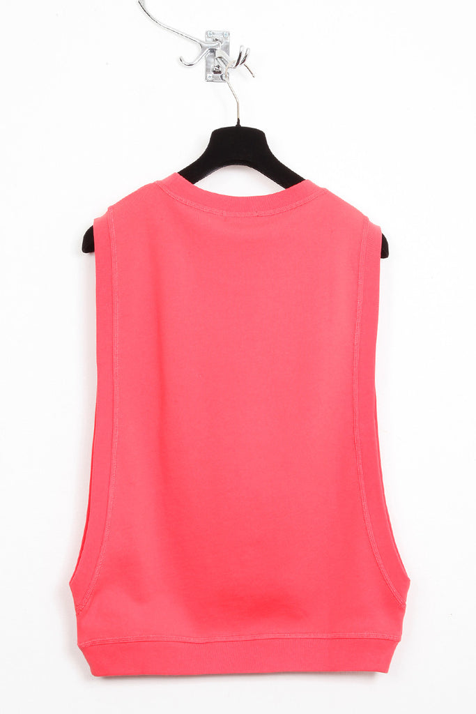 UNCONDITIONAL coral open side crew neck sweat shirting jumper.