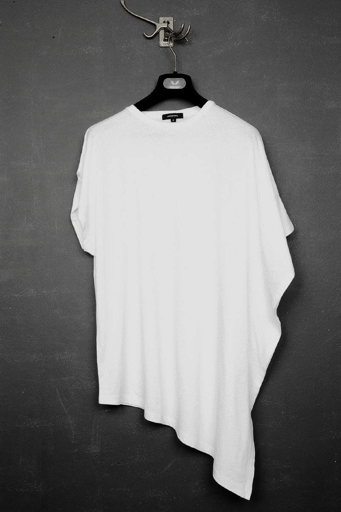 UNCONDITIONAL SS17 white cotton fin t-shirt