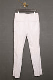 UNCONDITIONAL white light cotton mix crinkle tailored classic cigarette trousers.