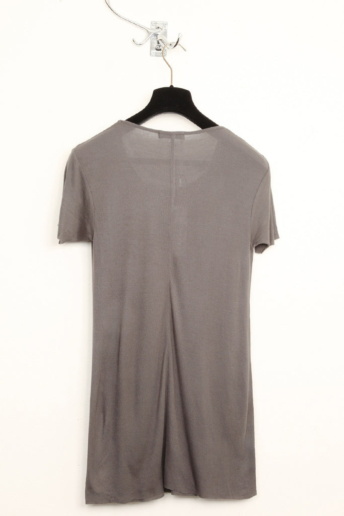 UNCONDITIONAL Military Grey rayon rib crew neck T-shirt.