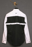 UNCONDITIONAL Black with contrast white harness long sleeved shirt.