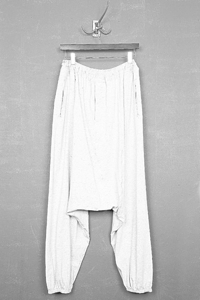 UNCONDITIONAL SS19 White elasticated cuff mens harem trousers.