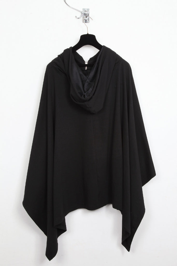UNCONDITIONAL Signature Tar hooded zip up poncho