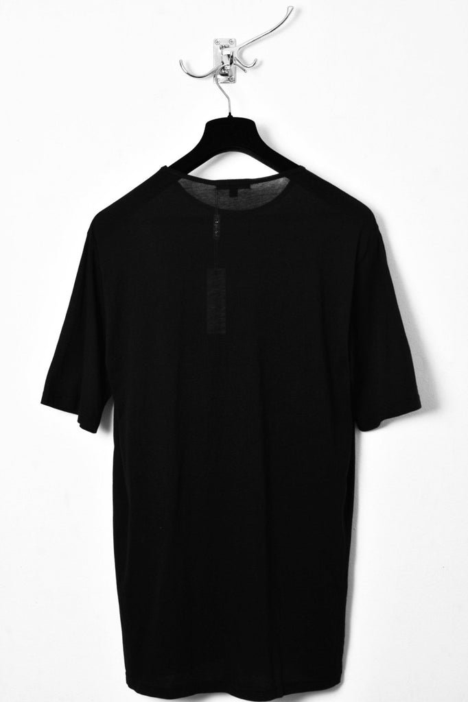 UNCONDITIONAL Black 'Perfect' oversized crew neck T, in finest cotton jersey
