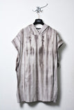 UNCONDITIONAL grey spray striped  cotton tunic hoodie
