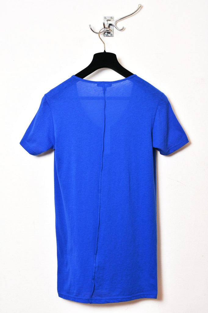 UNCONDITIONAL SS19 Lapis Blue signature scoop neck fine jersey T-shirt