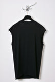 UNCONDITIONAL SS18 black sweat shirting and jersey sleeveless raglan tee