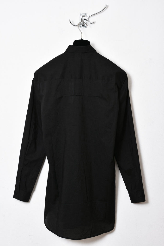 UNCONDITIONAL SS19 Black light cotton voile loose fit shirt.