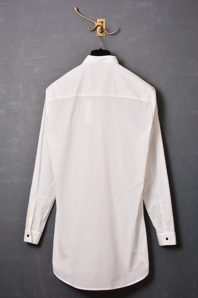 UNCONDITIONAL SS16 white Italian cotton loose fit shirt.