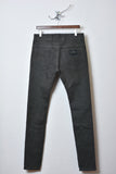UNCONDITIONAL grey cold dye stretch drill slim fit jeans.